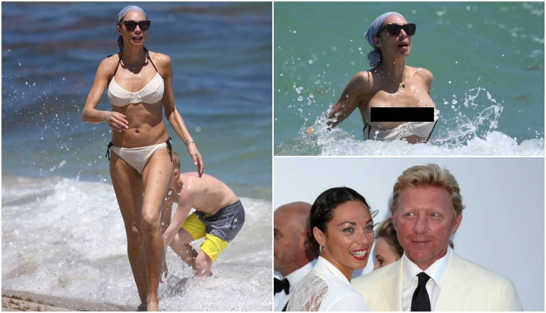 Bivšoj supruzi Borisa Beckera 'ispale' su grudi dok se brčkala