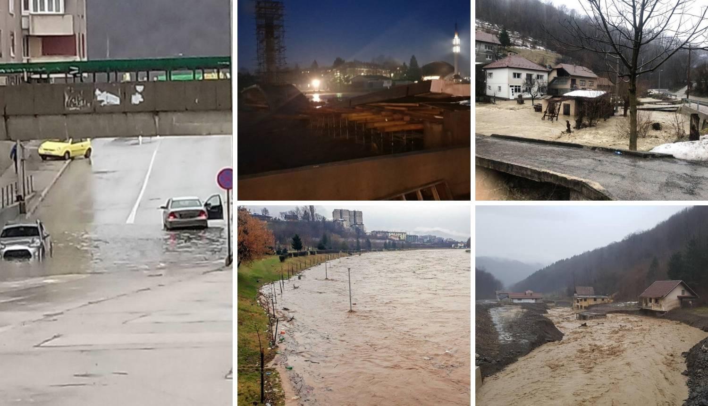 Dramatično u BiH: Poplavljene kuće i ceste, srušio se i most...