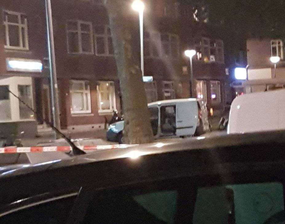 Police investigate a van with Spanish licence plates containing gas canisters which was found near a Rotterdam venue where a rock concert was cancelled