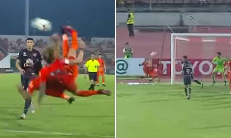Kao Tsubasa Ozora: Dvostruke škarice  za gol u tajlandskoj ligi