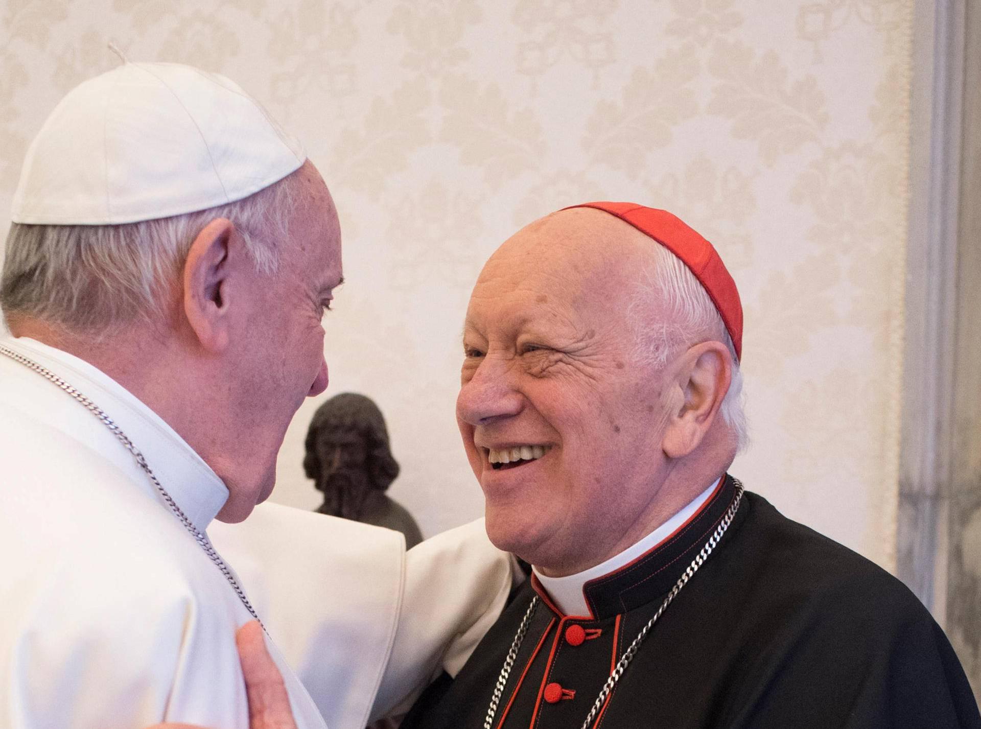 Pope Francis receives archbishop of Santiago de Chile, Ricardo Ezzati Andrello at the Vatican