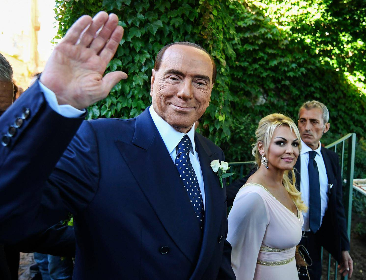 Ravello, Silvio Berlusconi at the marriage of Marianna Pascale