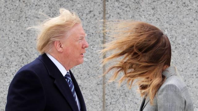 U.S. President Trump participates in VE Day 75th anniversary ceremony at World War II Memorial in Washington