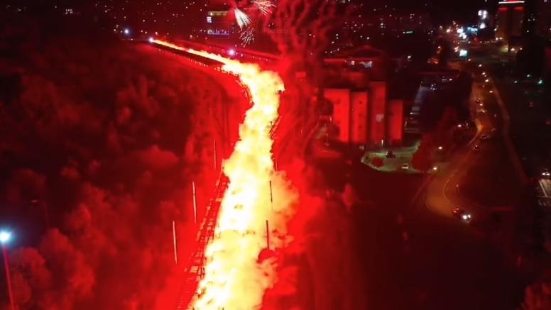 Nevjerojatni prizori iz Sarajeva za 100. rođendan Željezničara