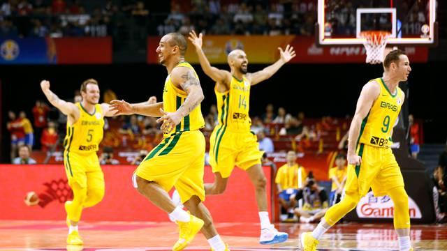 Basketball - FIBA World Cup - First Round - Group F - Brazil v Greece