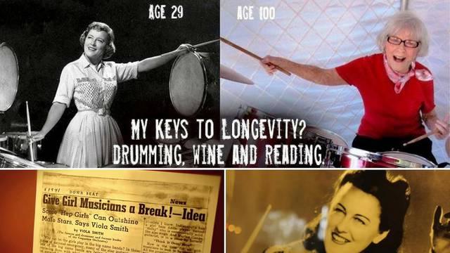 Glazbenica od rođenja: Sa 106 godina bubnja i uživa u životu