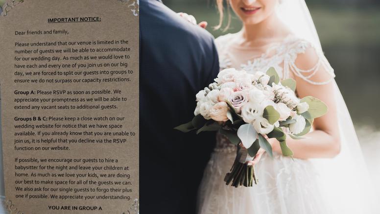 Dosta uvredljivo: Pozvali goste na vjenčanje, ali tako da prate tko je odustao i jesu li na redu