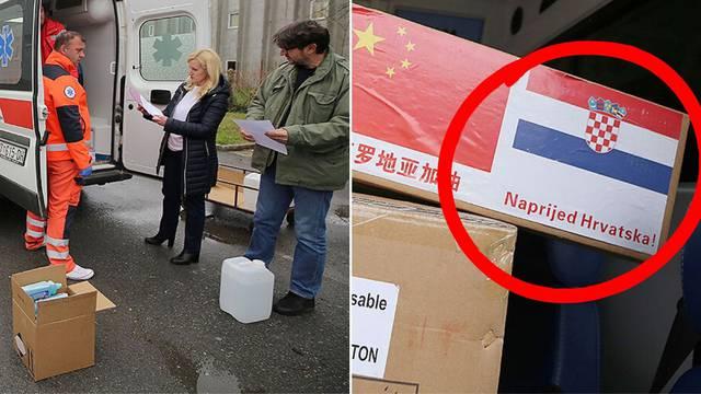 Virovitici stigla pomoć iz Kine uz poruku: 'Naprijed Hrvatska'
