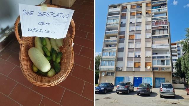 Misteriozni dobrotvor ostavlja stanarima zgrade u Koprivnici svježe povrće: 'Dirnuti smo'