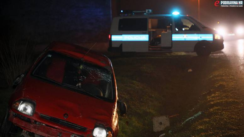 Nesreća u Đelekovcu: Vozačica sletjela u kanal, u bolnici je
