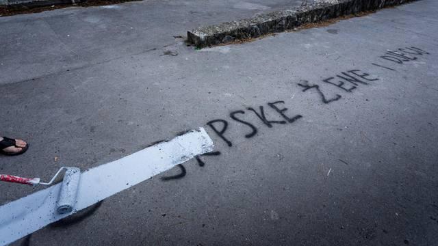 Jeziva poruka o silovanju srpskih žena i djece pojavila se u Splitu