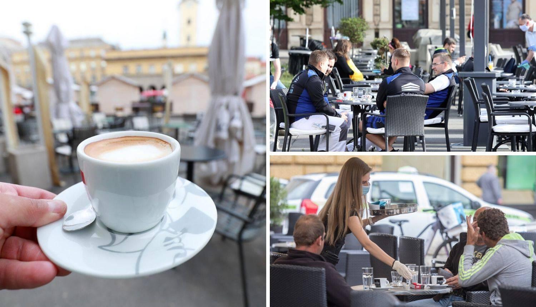 Hrvati jedva čekali: Jutros se popila prva kava na trgovima
