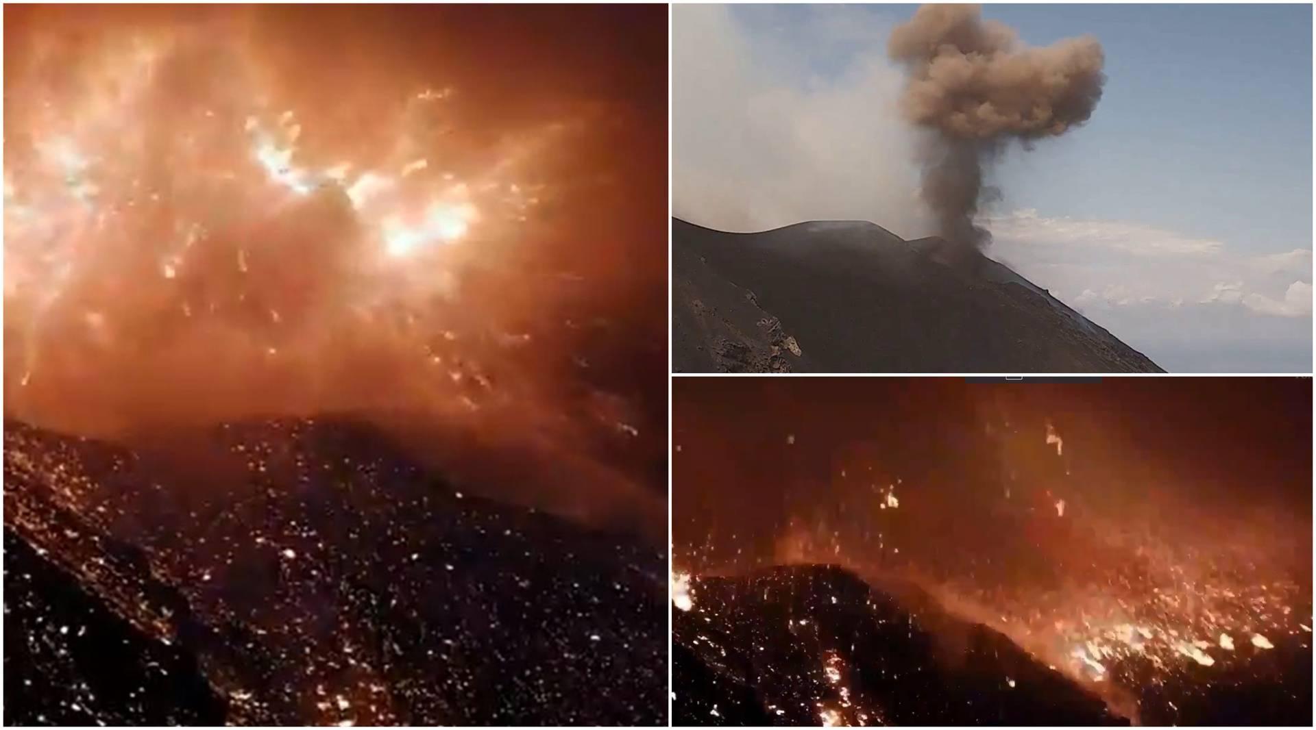 Probudila ih erupcija: Stromboli izbacio užarene stijene i pepeo