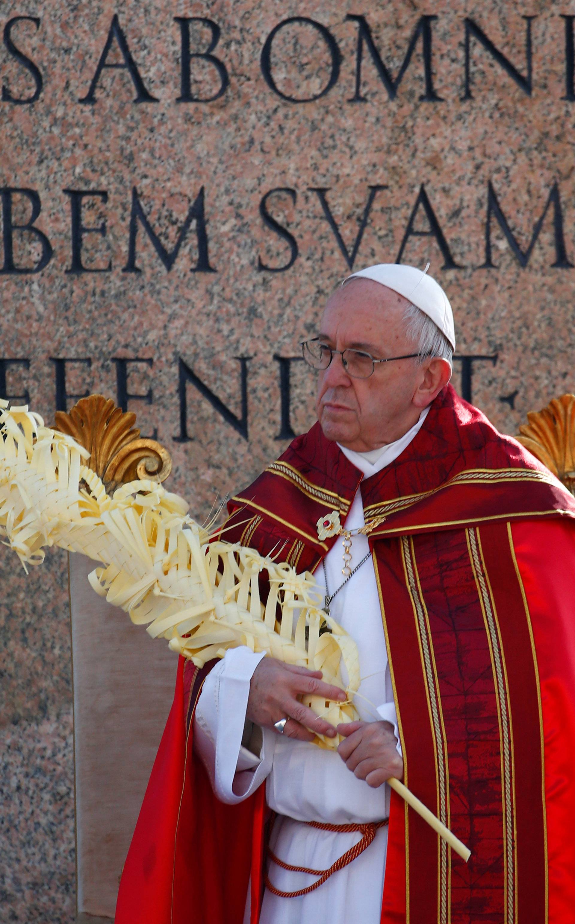 The Palm Sunday Mass in Saint Peter's Square at the Vatican