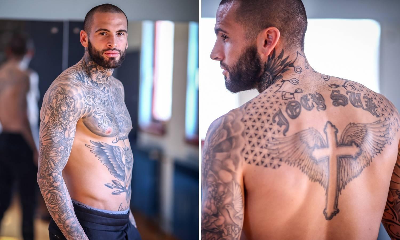 Goričin 'Mr. Tattoo': Joey Suk je najtetoviraniji igrač HNL-a...