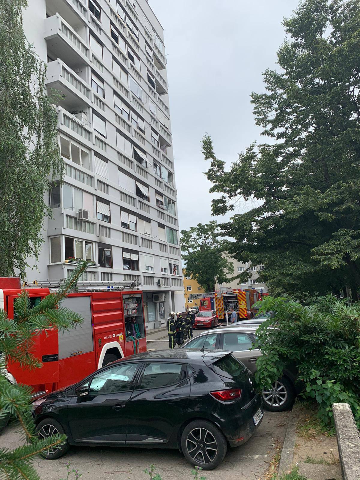 Požar u zgradi: 'Istrčao je van iz stana u panici, bio je sa psom'