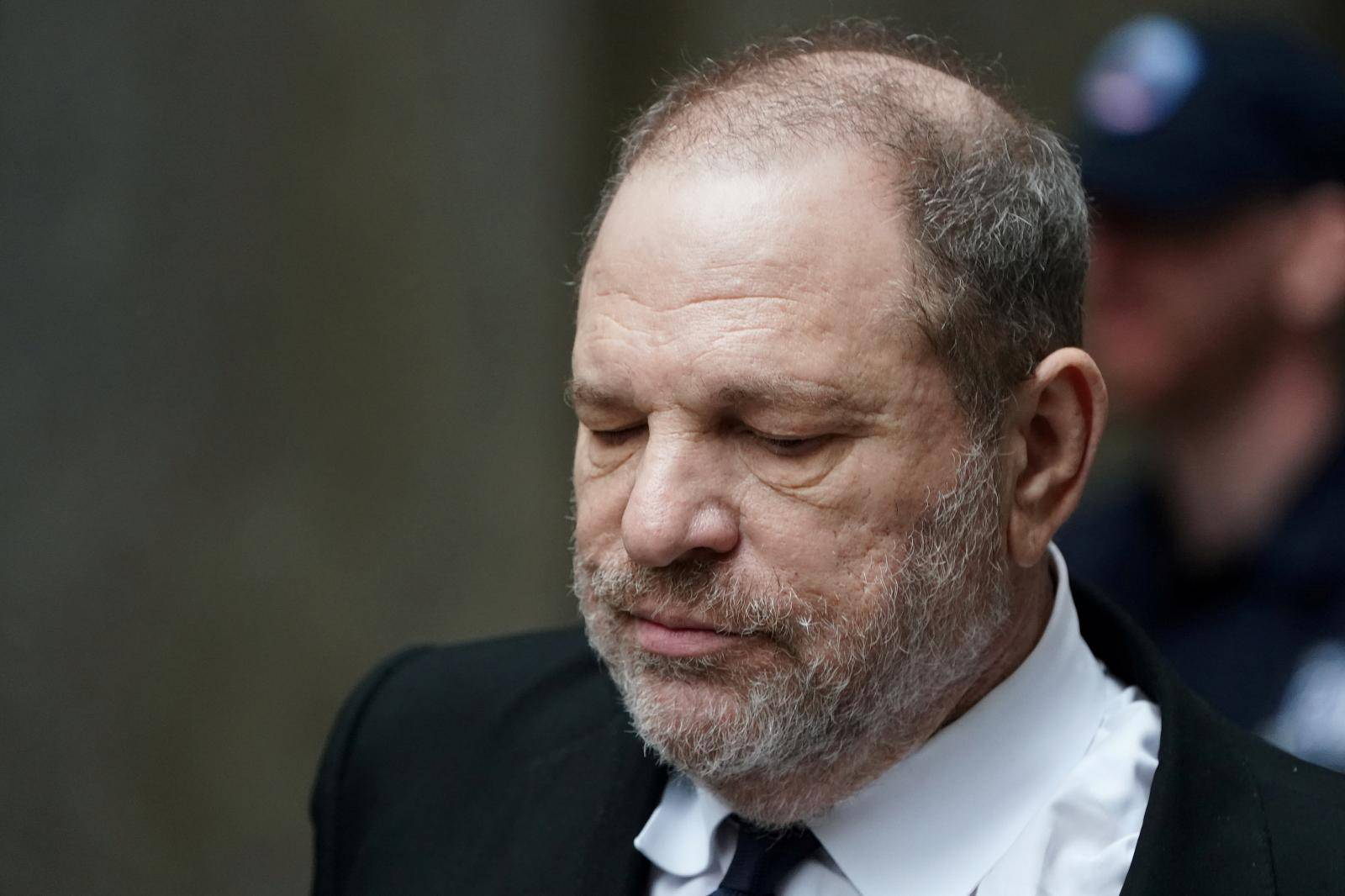 FILE PHOTO: Film producer Harvey Weinstein departs from a court hearing in New York