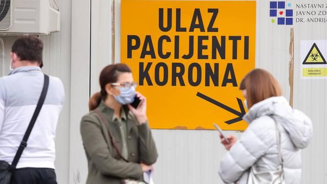Zagreb: Gužva za testiranje na koronavirus, auti stoje u koloni