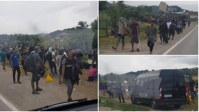 Rijeka migranata: Stotine ih bježi iz kampa  u Velikoj Kladuši