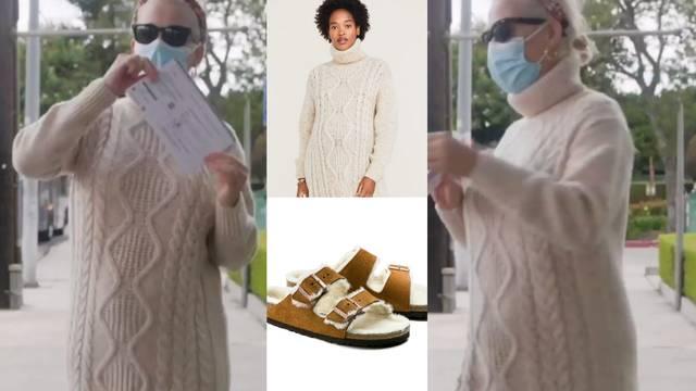 Katy Perry ovih dana obožava pletene haljne i krznene papuče