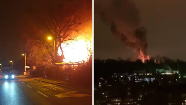 Buktinja na Mirogoju: Planula baraka, požar zahvatio borove