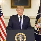 U.S President Donald Trump gives an address, a day after his supporters stormed the U.S. Capitol in Washington, U.S., in this still image taken from video provided on social media on  January 8, 2021. Donald J. Trump via Twitter/via REUTERS ATTENTION EDITORS - THIS IMAGE HAS BEEN SUPPLIED BY A THIRD PARTY. MANDATORY CREDIT. REFILE - UPDATING RESTRICTIONS