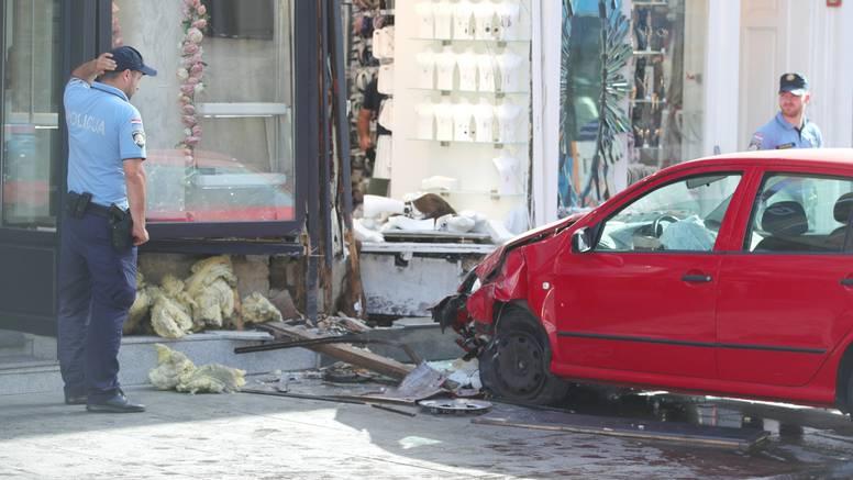 Krš i lom u centru Zagreba: Na Ilici se autom zabio u trgovinu