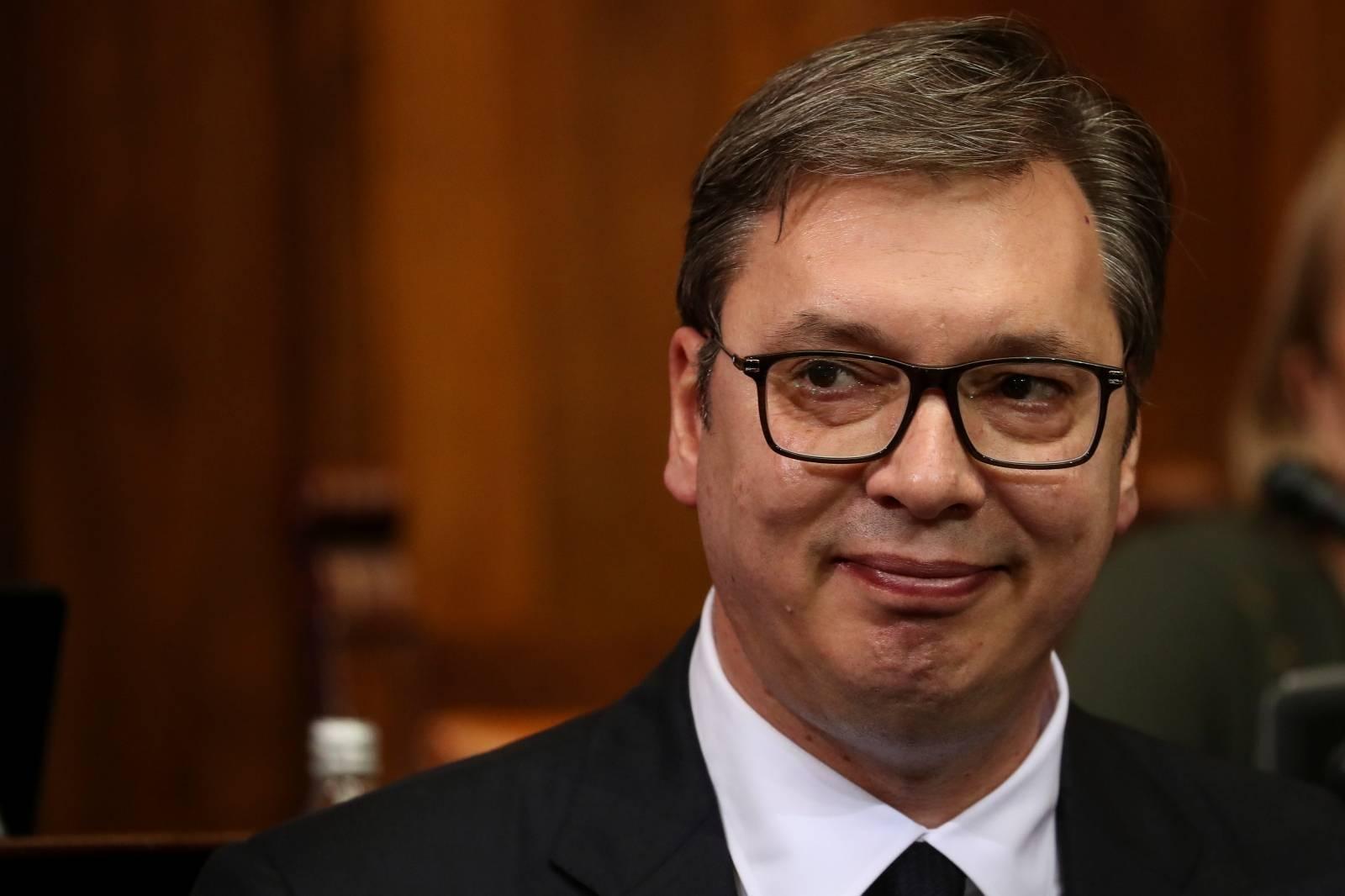 Serbia's President Vucic addresses parliament over Kosovo