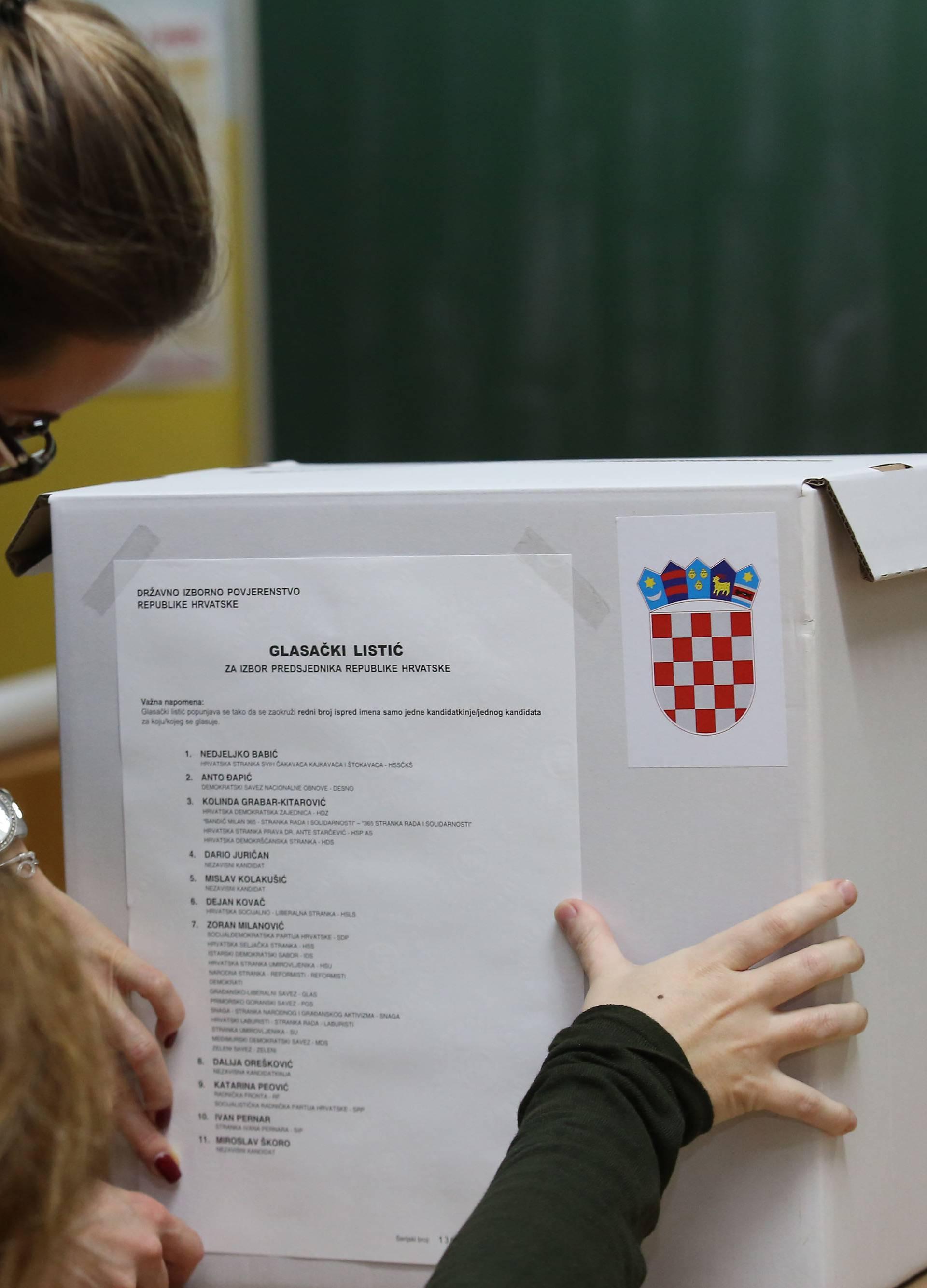 Šibenik: Glasačka kutija i biračko mjesto za predsjednika RH