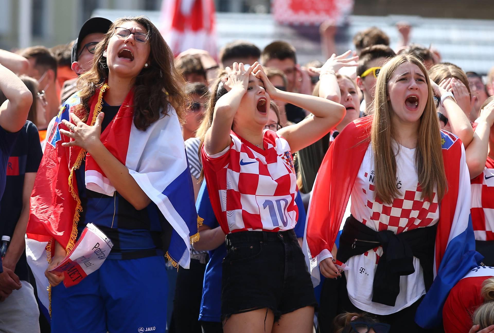 Euro 2020 - Fans in Croatia watch the Euro 2020 Group D match England v Croatia