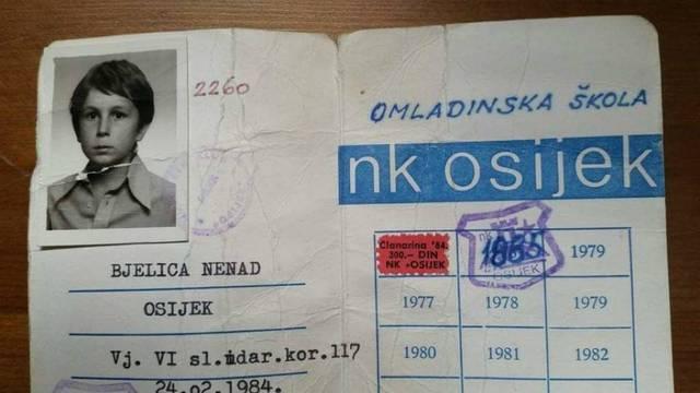 Kako je počelo: Bjelica objavio iskaznicu Osijeka iz davne '84.