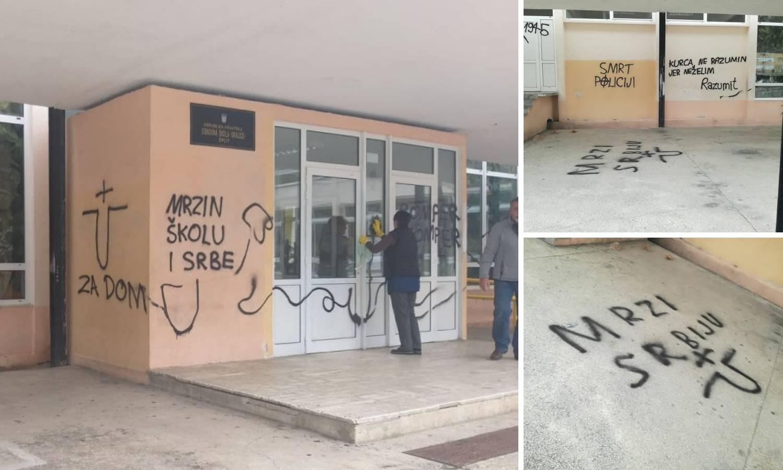 """Vandali išarali splitsku školu: Osvanuli grafiti """"Mrzi Srbiju"""""""
