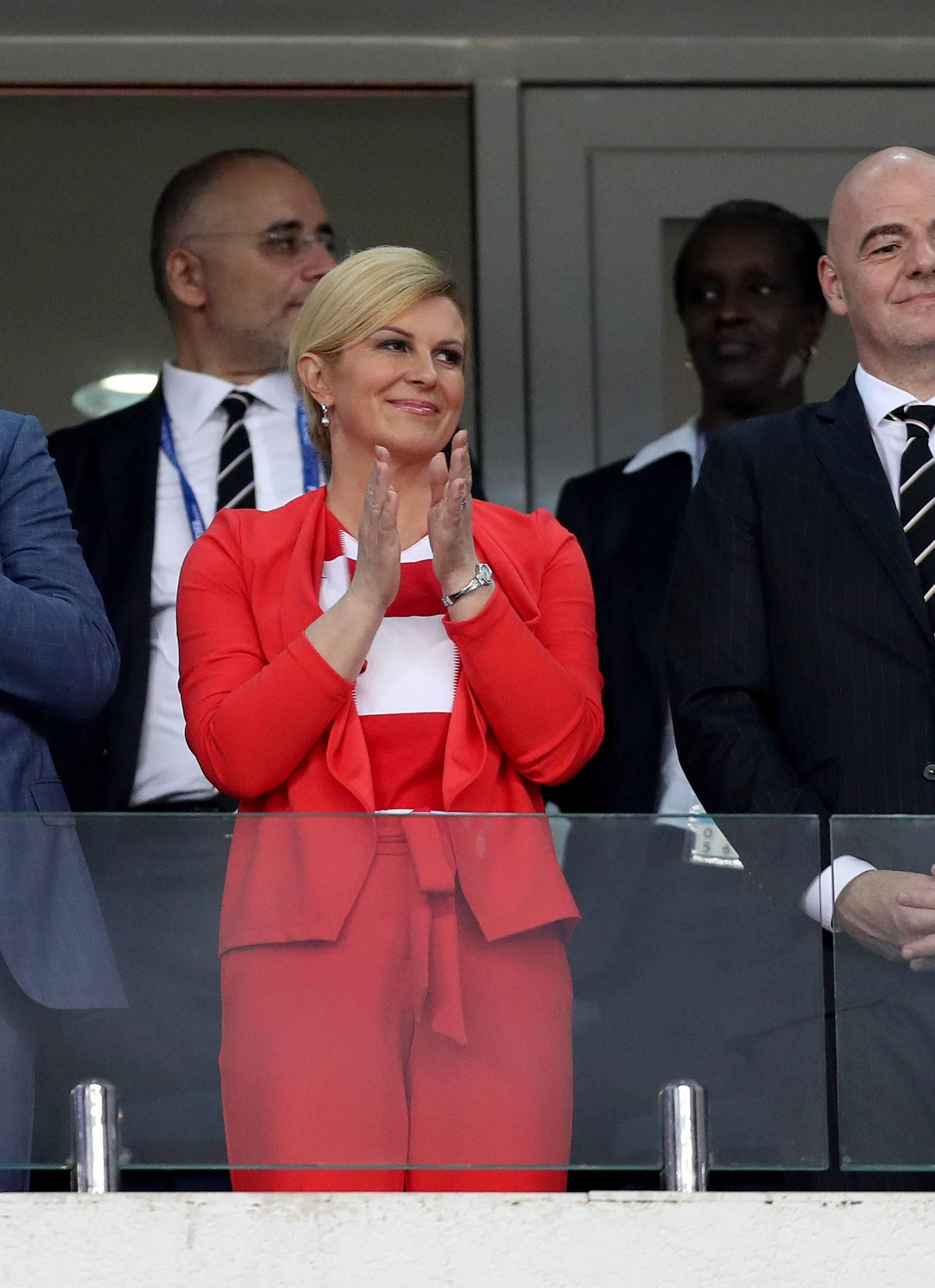 Soči: Predsjednica RH Grabar-Kitarović u loži sa Šukerom i Medvedevim