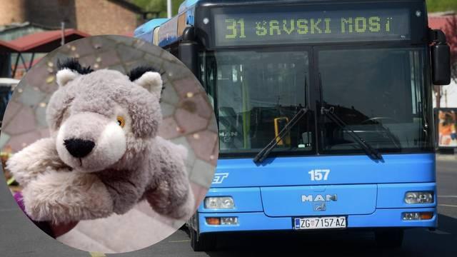 Curica u busu izgubila najdražeg plišanog vuka: 'Vav vav nam je došao doma, vratio ga je vozač'