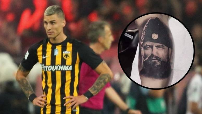 'Fašistički motivi': Igrač iz BiH igrao protiv Veleža s istaknutom tetovažom četničkog vojvode?