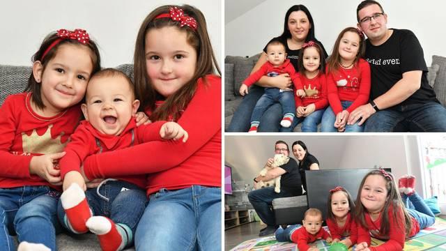Tri Palčića obitelji Hatlak: Tia (6), Ria (4) i maleni Tin nagrada su roditeljima za sve strahove
