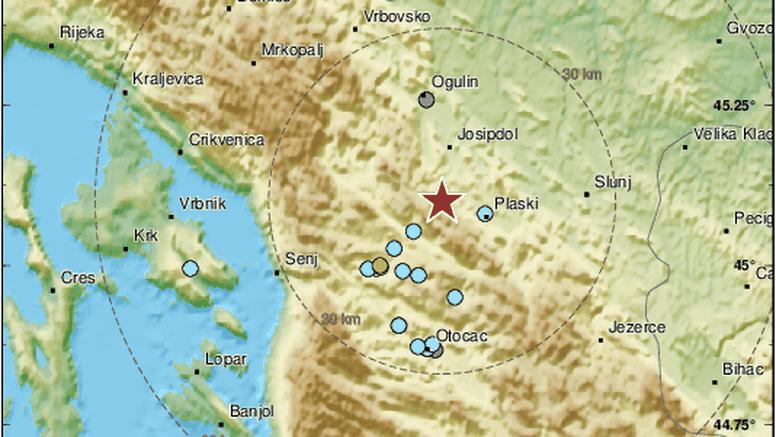 Potres magnitude 2,8  uzdrmao područje nedaleko od Otočca