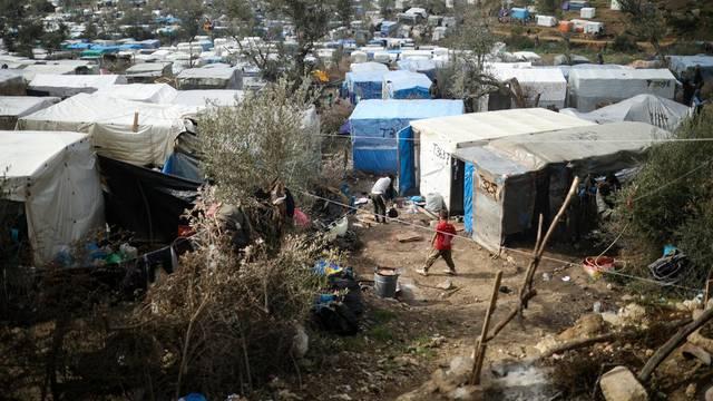 Izbjeglički kamp Mori smješten na otoku Le