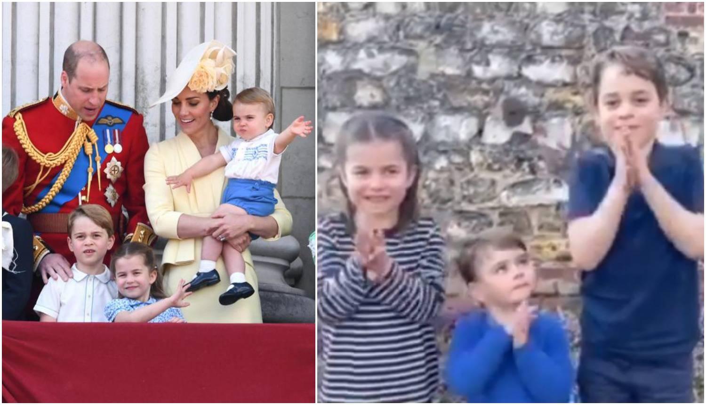Kraljevska djeca pljeskala za britanske zdravstvene radnike