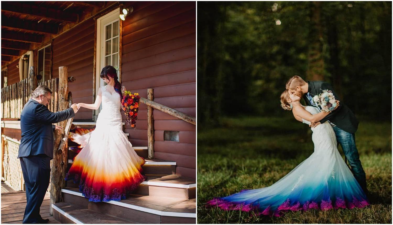 Mlada umjetnica radi unikatne vjenčanice sa šarenim dnom