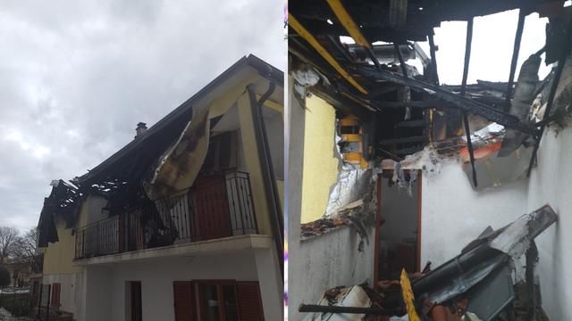 Grom je zapalio kuću u Labinu