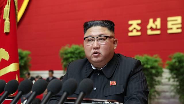 North Korean leader Kim Jong Un speaks at the Workers' Party congress in Pyongyang