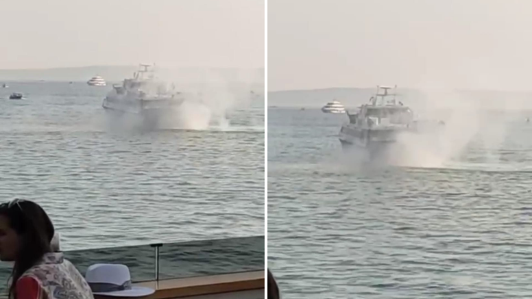 VIDEO Katamaran isplovio iz splitske luke i zapalio se