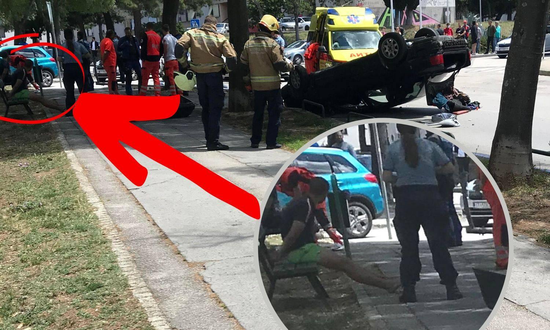 Bježali od policije, auto završio na krovu, a oni u - lisicama...