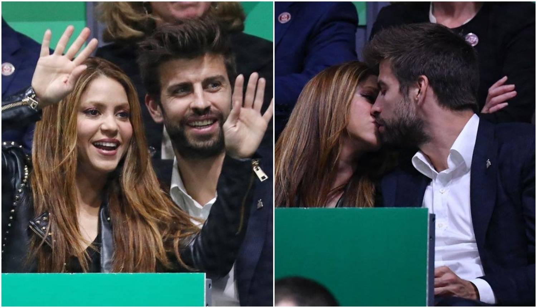 Strasti na tribinama: Shakira i Pique izmjenjivali nježnosti...