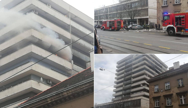 Buknulo u Zagrebu: Gorio je stan na devetom katu nebodera
