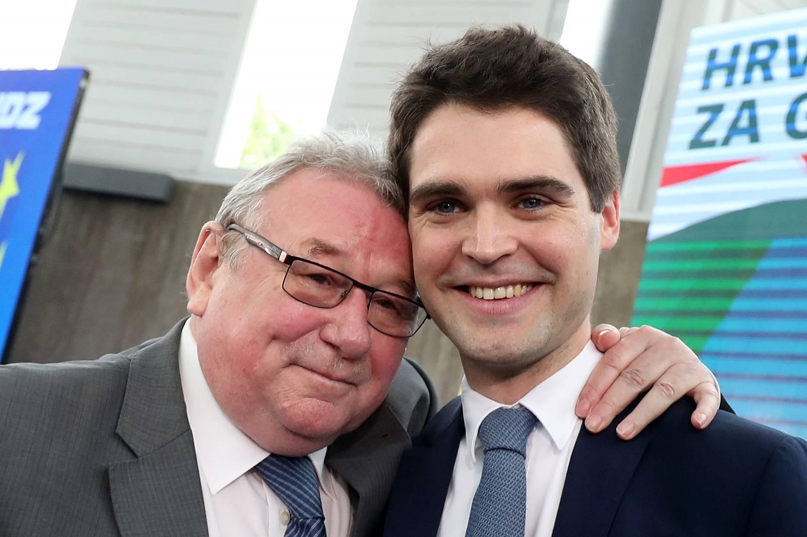 Zagreb: Karlo Ressler predstavljen kao kandidat HDZ-a za EU izbore