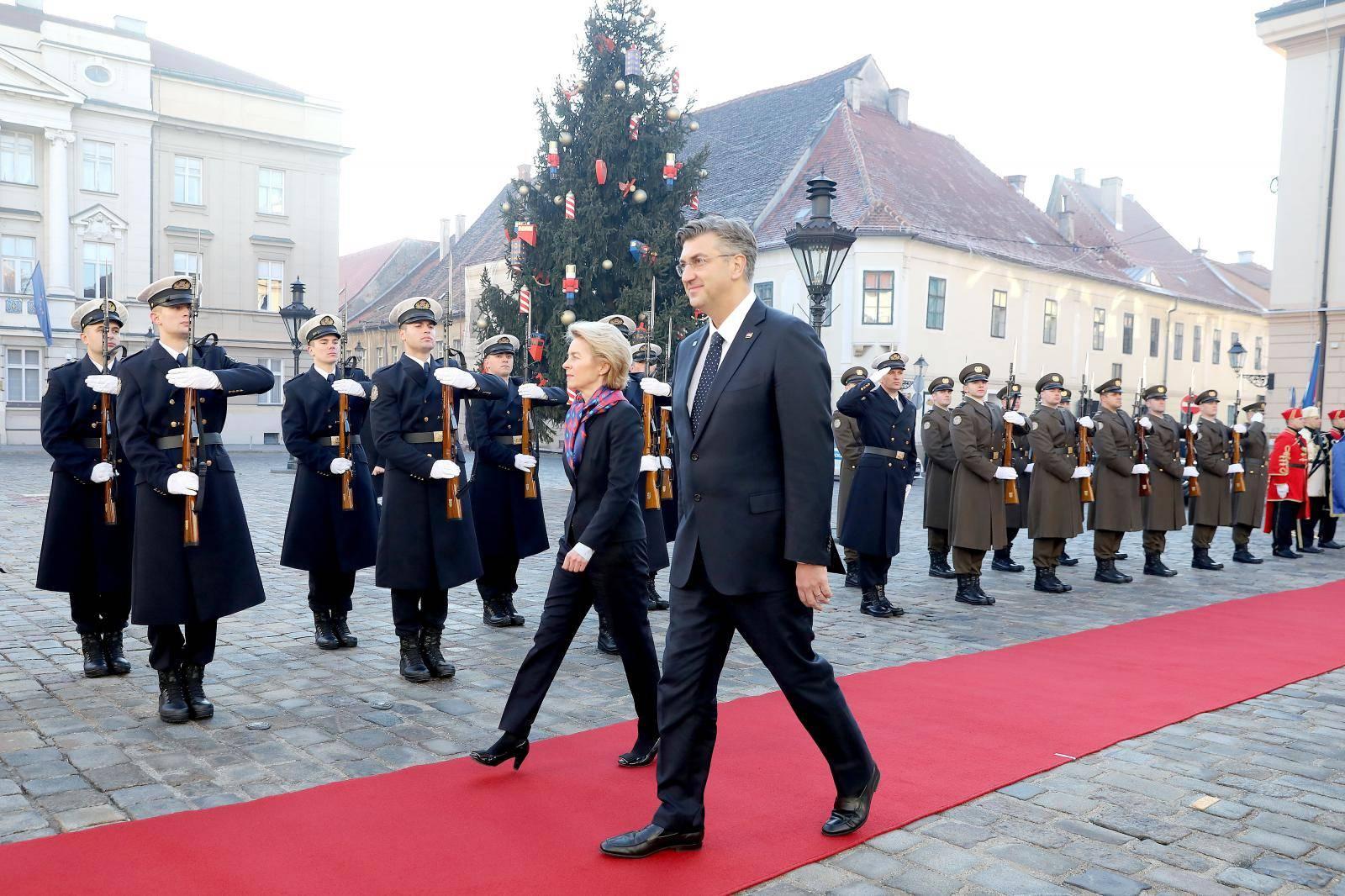Zagreb: Sastanak Andreja Plenkovića i Ursule von der Leyen
