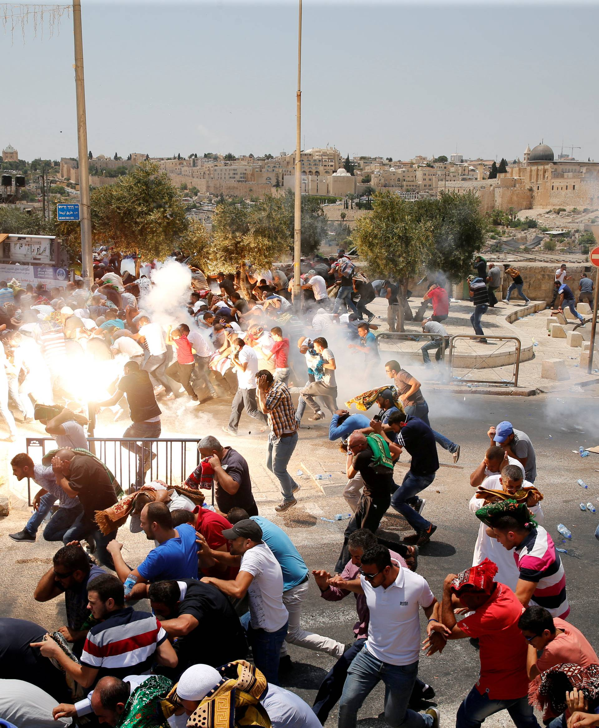 """A Picture and its Story: Tear gas scene from Jerusalem's """"Day of Rage"""
