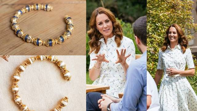 Zlatna plus bijela: Vojvotkinja nosi nakit inspiriran filigranom